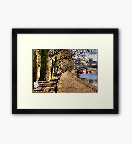 By The Riverside - York Framed Print