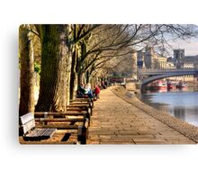 By The Riverside - York Metal Print