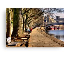 By The Riverside - York Canvas Print