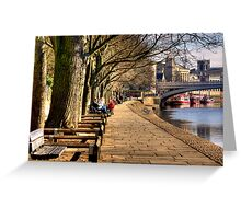 By The Riverside - York Greeting Card