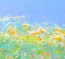 Spring Meadow Abstract by Menega  Sabidussi