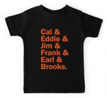 Baltimore Oriole HOFers - orange Kids Tee