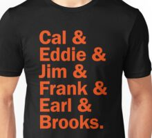 Baltimore Oriole HOFers - orange Unisex T-Shirt