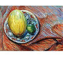 Still Life with a Yellow Melon Photographic Print