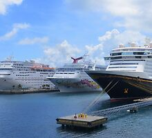Cruise Ships in Nassau, Bahamas by AuntDot