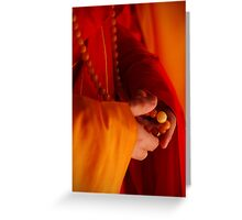 Buddhist Prayer Beads Greeting Card