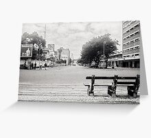 Maputo Street, Mozambique Greeting Card