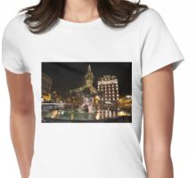 Rome's Fabulous Fountains - Bernini's Fontana del Tritone Womens Fitted T-Shirt