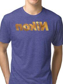 Nokin/Nikon Gold Mirror Tri-blend T-Shirt