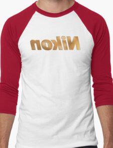 Nokin/Nikon Gold Textured Mirror Men's Baseball ¾ T-Shirt