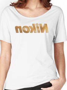 Nokin/Nikon Gold Textured Mirror Women's Relaxed Fit T-Shirt