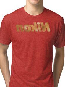 Nokin/Nikon Gold Textured Mirror Tri-blend T-Shirt