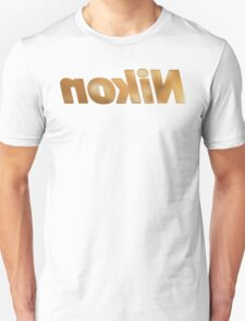 Nokin/Nikon Gold Textured Mirror Unisex T-Shirt