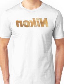 Nokin/Nikon Gold Textured Mirror Unisex T-Shirt