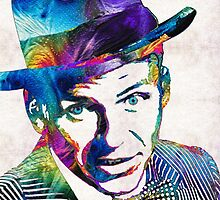 Frank Sinatra Art - Old Blue Eyes - By Sharon Cummings by Sharon Cummings