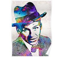 Frank Sinatra Art - Old Blue Eyes - By Sharon Cummings Poster