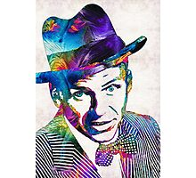 Frank Sinatra Art - Old Blue Eyes - By Sharon Cummings Photographic Print