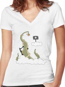 forbidden fruit Women's Fitted V-Neck T-Shirt