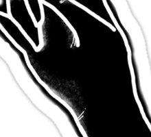 Witch Hand Black Sticker