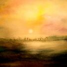 Landscape Abstract...The City by  Janis Zroback