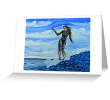 surf art Greeting Card