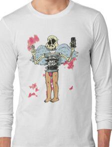 tinrib skeleton binge drink smoker Long Sleeve T-Shirt