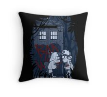 Bad wolf in Gravity falls Throw Pillow