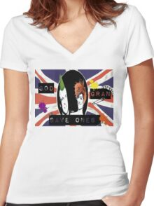 God Save One's Grandma Women's Fitted V-Neck T-Shirt