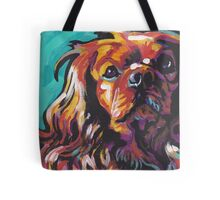 cavalier king charles spaniel Dog Bright colorful pop dog art Tote Bag