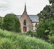 Little Church at Vlassenbroek by Gilberte