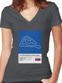 Slovakiaring Women's Fitted V-Neck T-Shirt