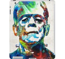Frankenstein Art - Colorful Monster - By Sharon Cummings iPad Case/Skin