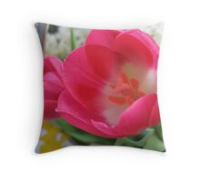 Spring Sprite Tulips Throw Pillow