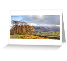 The Dodds and Helvellyn from above Threlkeld Greeting Card