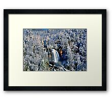 A Winter Blast at Whitewater Falls Framed Print