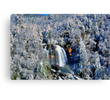 A Winter Blast at Whitewater Falls Canvas Print