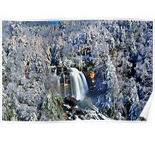 A Winter Blast at Whitewater Falls Poster