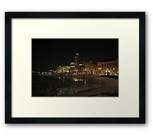 Palace at night (Stockholm, Sweden) Framed Print
