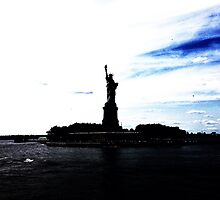 Silhouttes of Lady Liberty by omhafez