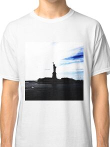 Silhouttes of Lady Liberty Classic T-Shirt