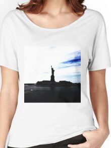 Silhouttes of Lady Liberty Women's Relaxed Fit T-Shirt