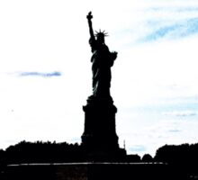 Silhouttes of Lady Liberty Sticker