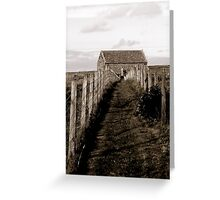 walk towards the cross. Greeting Card