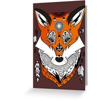 Fox Head Greeting Card