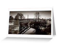 1810 Tickford Bridge - Newport Pagnell Greeting Card