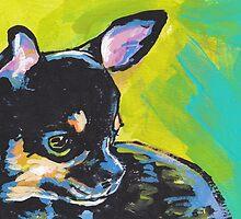 Chihuahua Dog Bright colorful pop dog art by bentnotbroken11