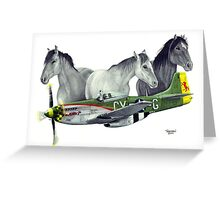 """Wild Pony's"" Greeting Card"