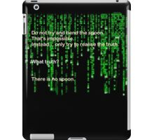 The Matrix: There is no spoon iPad Case/Skin