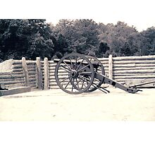 cannon at Pamplin Park Virginia LETTER Q Photographic Print