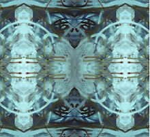Blue Medallions  by Lisann